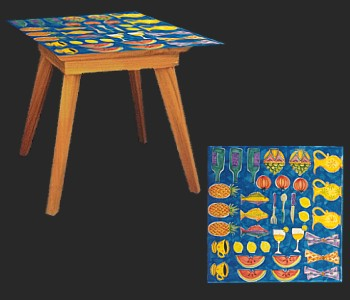 Painted Ceramic Table Contemporary